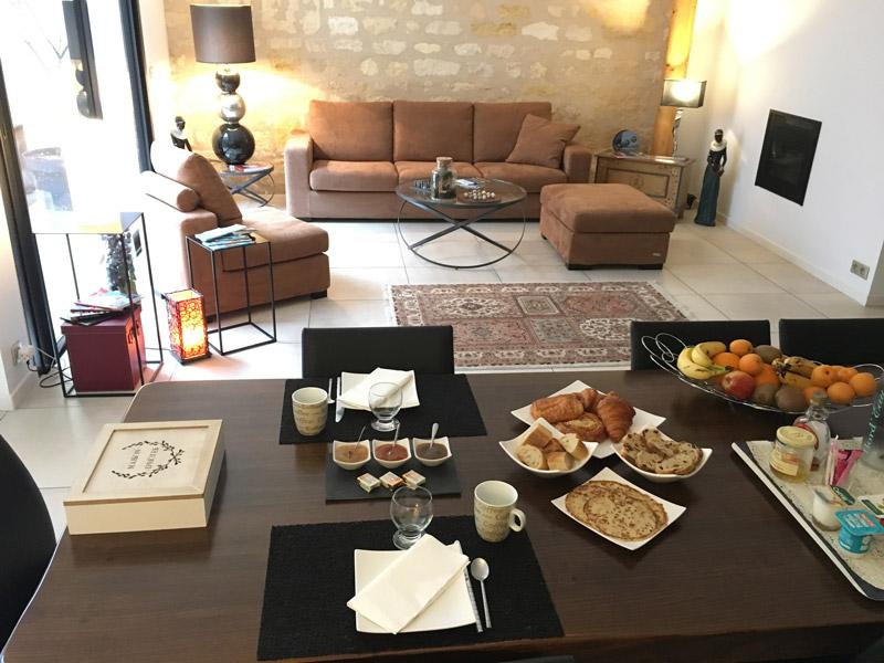 Chambres d'Hôtes à Bordeaux - Petit Déjeuner